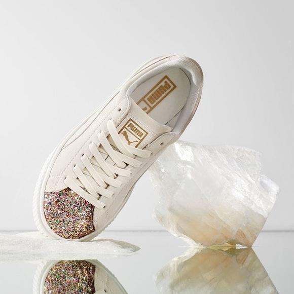 PUMA Glitter Platform Sneakers d93a101e6